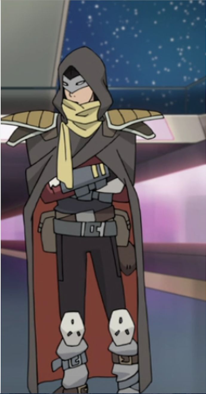 keith as a space pirate in disguise from voltron legendary