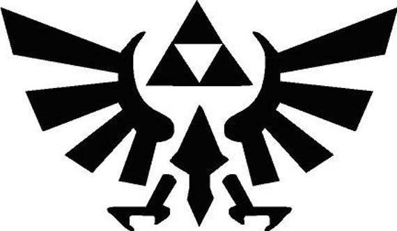 Legend Of Zelda Logo Vinyl Decal on Etsy, $6.50
