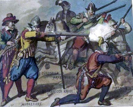 30 Jähriger Krieg. Musketiere, Arkebusier, Cürassier, Pikenier. 1630