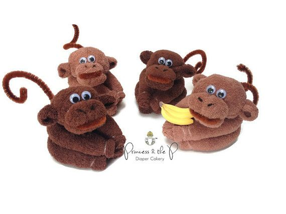 Hey, I found this really awesome Etsy listing at https://www.etsy.com/listing/186907996/baby-washcloth-monkey-diaper-cake-safari