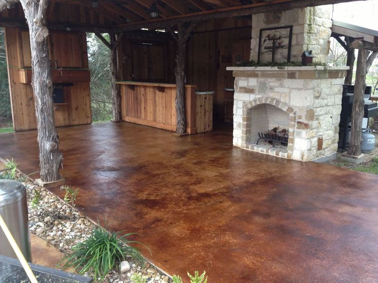 Staining Concrete Patio Pictures