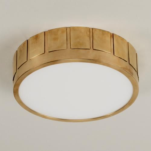 Vaughan Designs Portsmouth Flush Ceiling Light, Large, Brass, CL0235.BR, 3H x 10.5W (also in Nickel and smaller size)