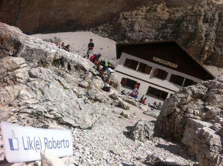 Berghut Giussani 2500mt hoog Dolomieten (T'huis), dankje wel Geert  ik wacht je in de winkel voor het verdiende ijsje