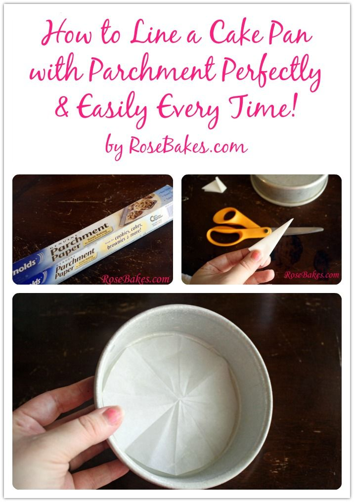 How to Line a Cake Pan with Parchment Paper Perfectly & Easily Every Time