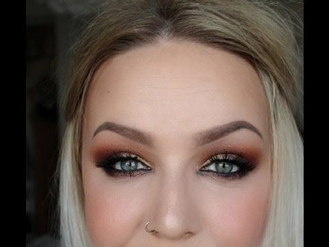 Smokey orange sunset eyeshadow tutorial - Sleek Eyeshadow Palette Sunset - YouTube