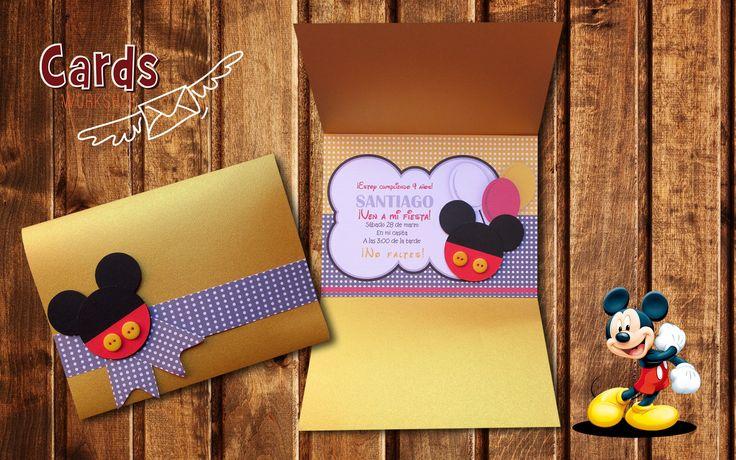 Bonita tarjeta al estilo Mickey Mouse