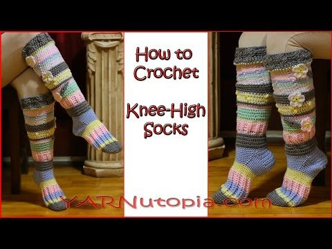 How to Crochet Knee High Socks, My Crafts and DIY Projects