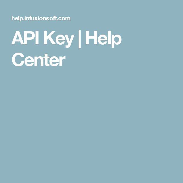 API Key | Help Center