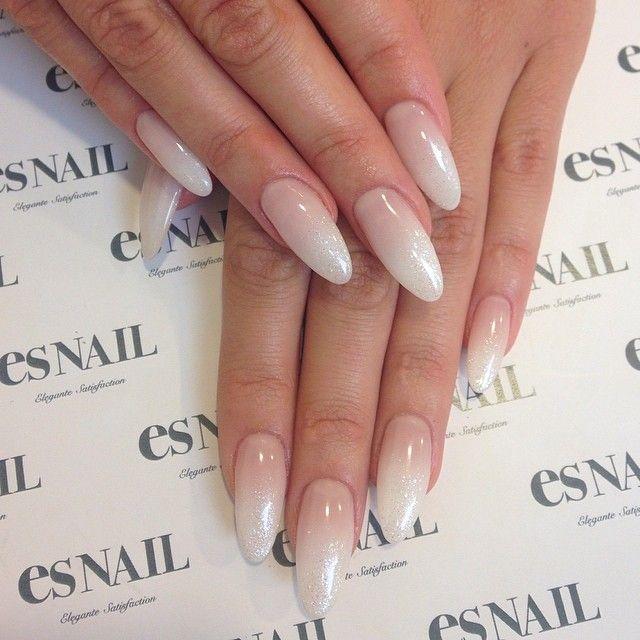 """White gradation nails by @kiko_mikiko ☆Price → one color + air brush + add…"