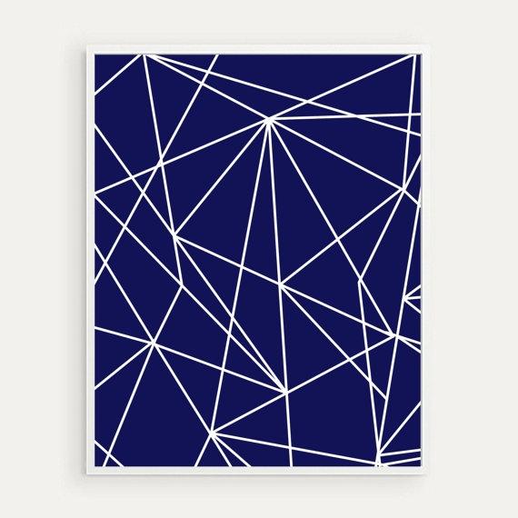 Geometric Line Art : Geometric line art minimalist modern nursery wall