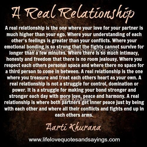 A Real Relationship Is The One Where Your Love For Your