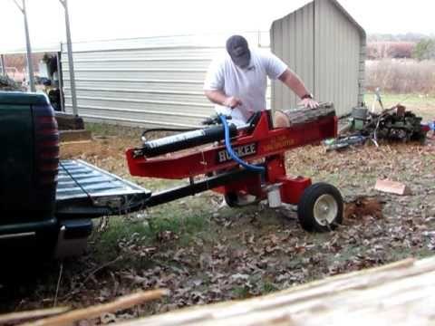 huskee 22 ton log splitter - YouTube