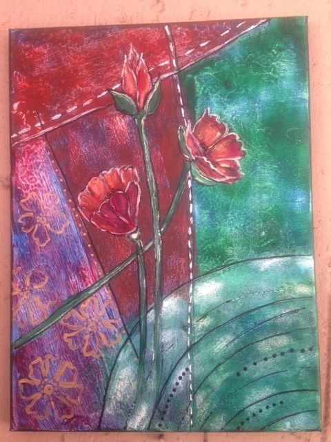 Buy Flower Painting - 30 x 40 cmfor R250.00