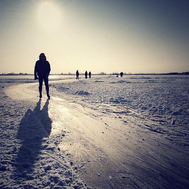 Hot sun #holland #winter #snow #ice #iceskating #schaatsen