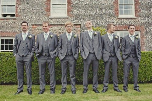 Slate gray suits, Yup. Men are gonna wear these. | Dream wedding ...