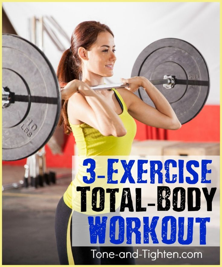 3 Exercise Total Body Workout that you can do at the gym - Tone-and-Tighten.com