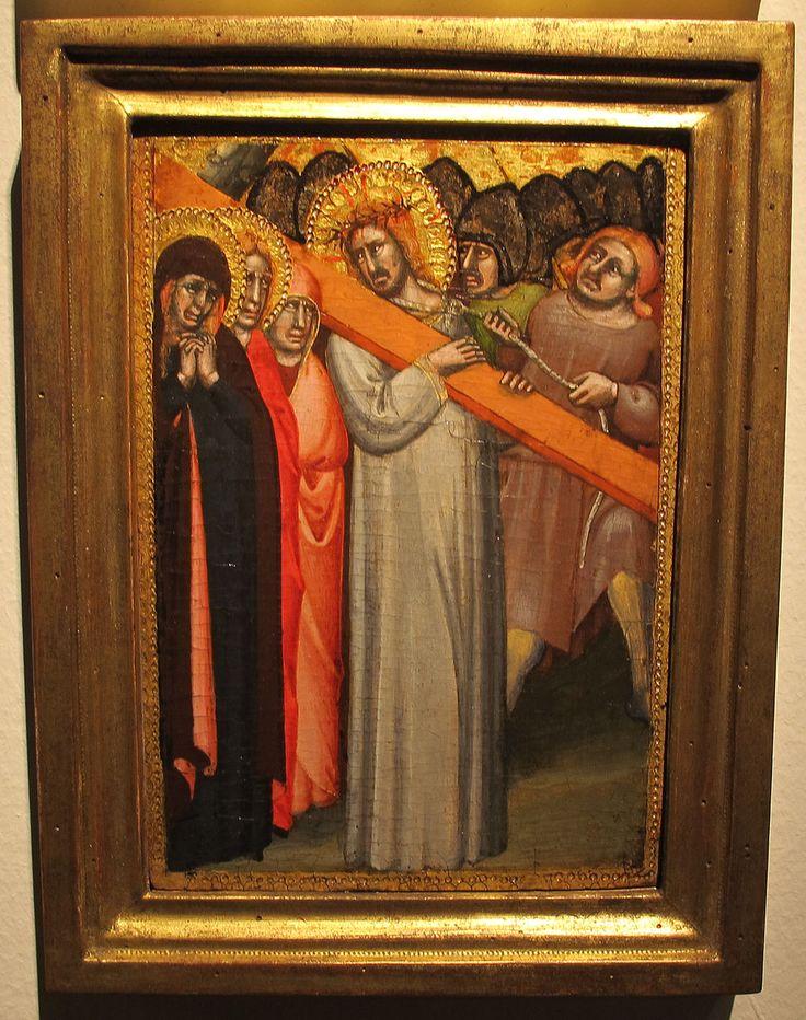 Simone dei crocifissi, andata al calvario, coll. privata.