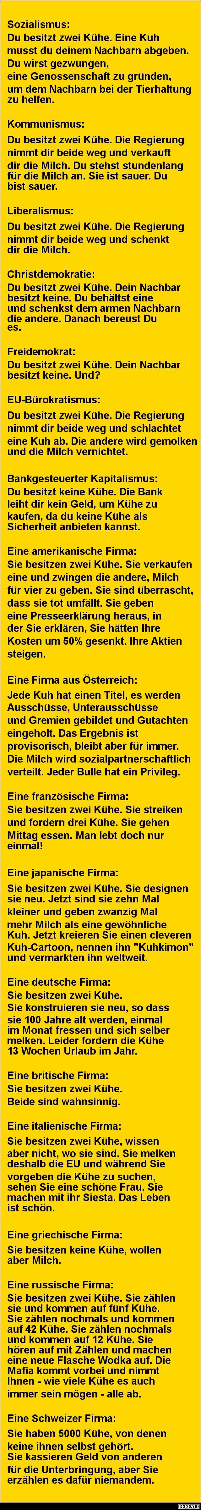Sozialismus,..Kommunismus,...Liberalismus.. | DEBESTE.de, Lustige Bilder…