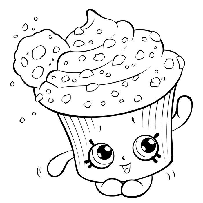 Cupcake Coloring Pages In 2020 Shopkin Coloring Pages Cupcake