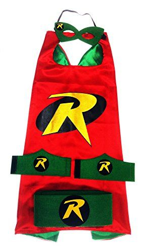 MyTinyHeroes Children's Superhero Costume - 5 Pc Set - Robin -- Want additional info? Click on the image.