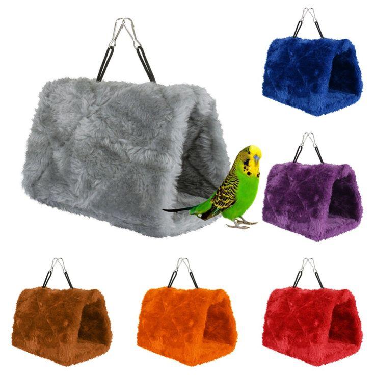 Moda Peluş Hut Hamak Asılı Mağara Cage Hut Çadır Yatak Snug kuşlar Kış Sıcak Yuva Kuş Papağan Conure Oyuncak Papağan Hamak F