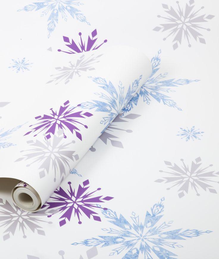 Praxis frozen behang met sterren sneeuwvlokjes behang for Behang praxis