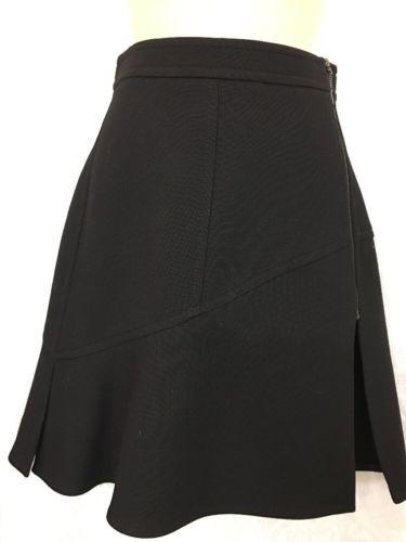 Louis Vuitton Short Skirt A Line Side Zipper Wool Size 34 NWT