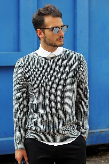 Men's fashion- crisp and clean.