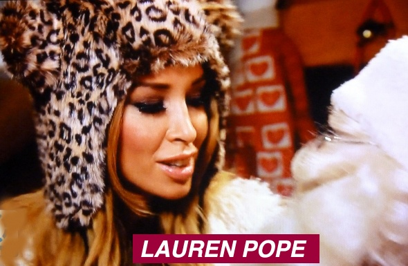 "★ Lauren ""Popey"" Pope is an English glamour model, disc jockey, music producer and entrepreneur. She appears in the ITV2 show ""The Only Way Is Essex."" Here Lauren wears a Knitwits original."