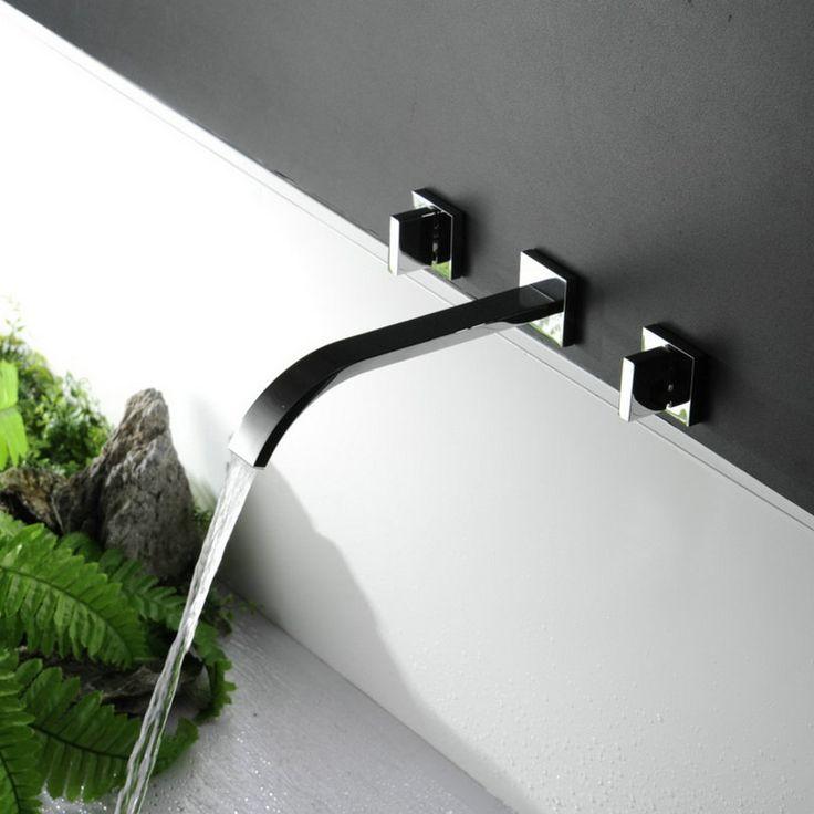 509 best ID  Salle de bain images on Pinterest Bathroom, Bathroom - mitigeur mural salle de bain