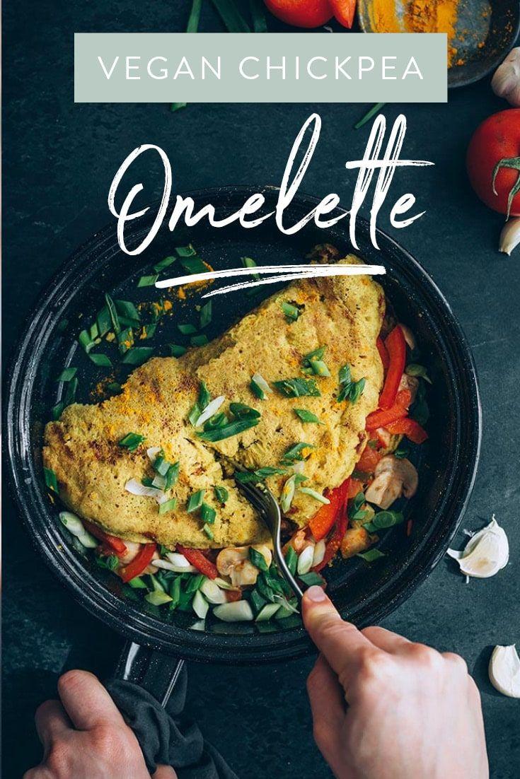Veggie Stuffed Vegan Omelette Recipe Vegan Brunch Recipes