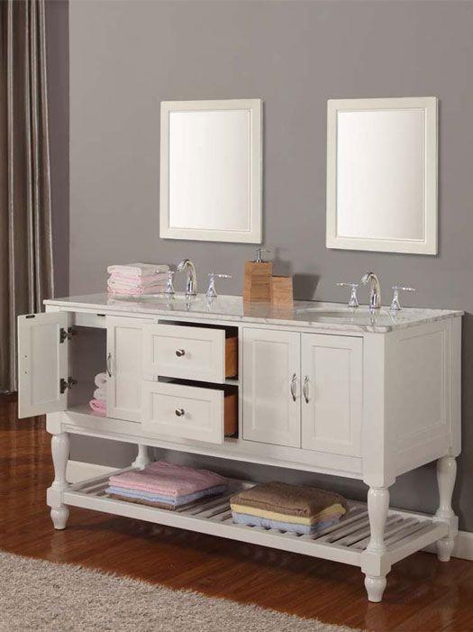 Bathroom Ideas Double Sink 117 best white bath vanities images on pinterest | bath vanities