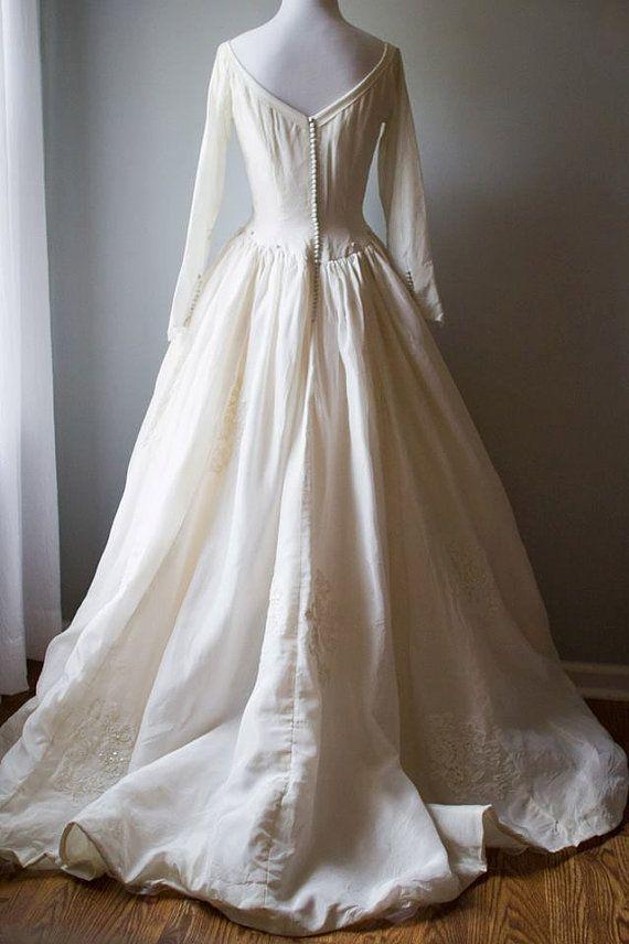 1950 S Priscilla Of Boston Designer Gown M L