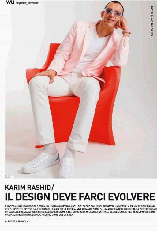 An interview with Karim Rashid on WU Magazine who made CYBORG TABLE LAMP for Martinelli Luce http://www.martinelliluce.it/comunicazione-en/index/82