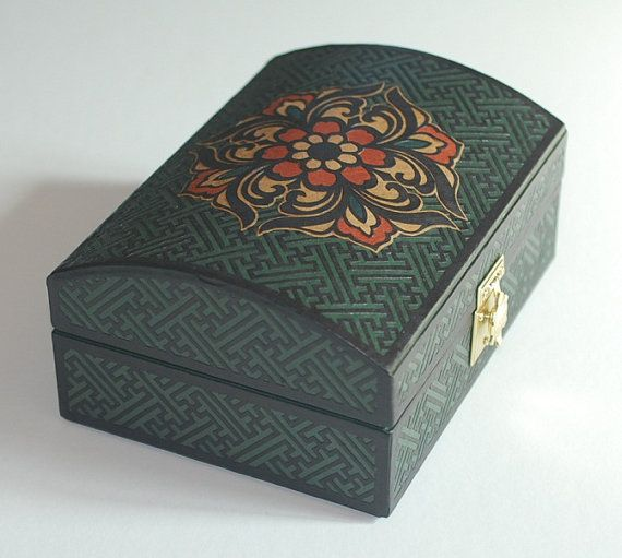 Jewelry BoxTrinket box Storage Box Gift by koreanpaperart7 on Etsy