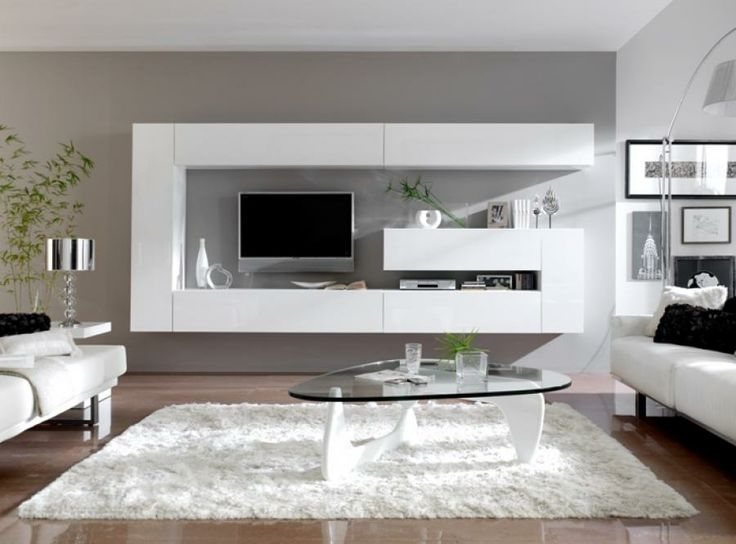wall storage system in white or black high gloss modern wall living room storage