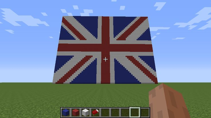 My own Union Jack in Minecraft computer version.