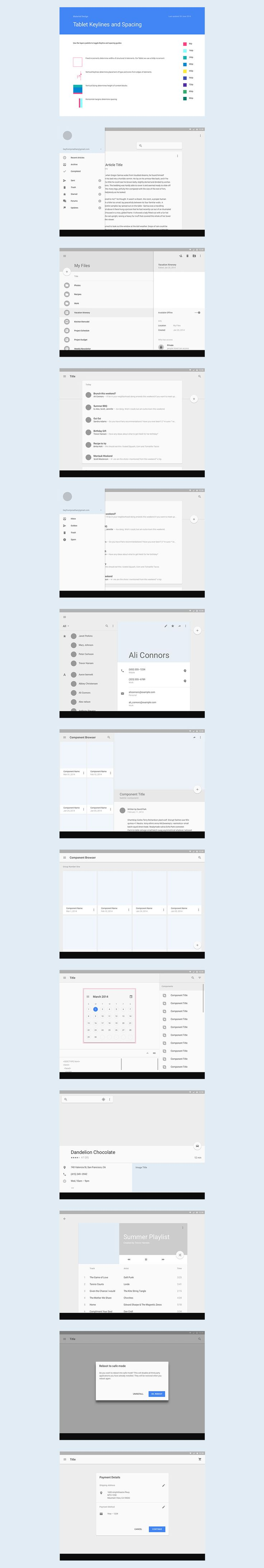 Android L Tablet UI Template (.sketch)
