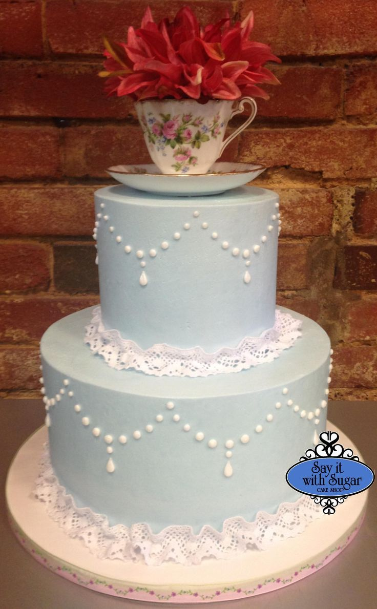 bridal shower teparty decorations%0A Tea party cake