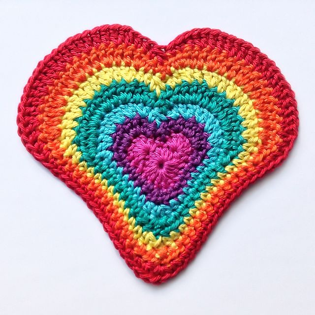 Crochet Pattern Central Hearts