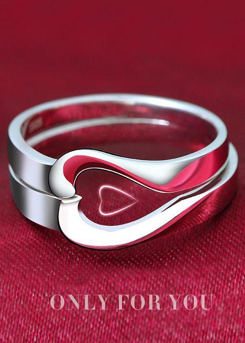 Sterling Silver Matching Couple Rings Set for Both Him and Her ❤