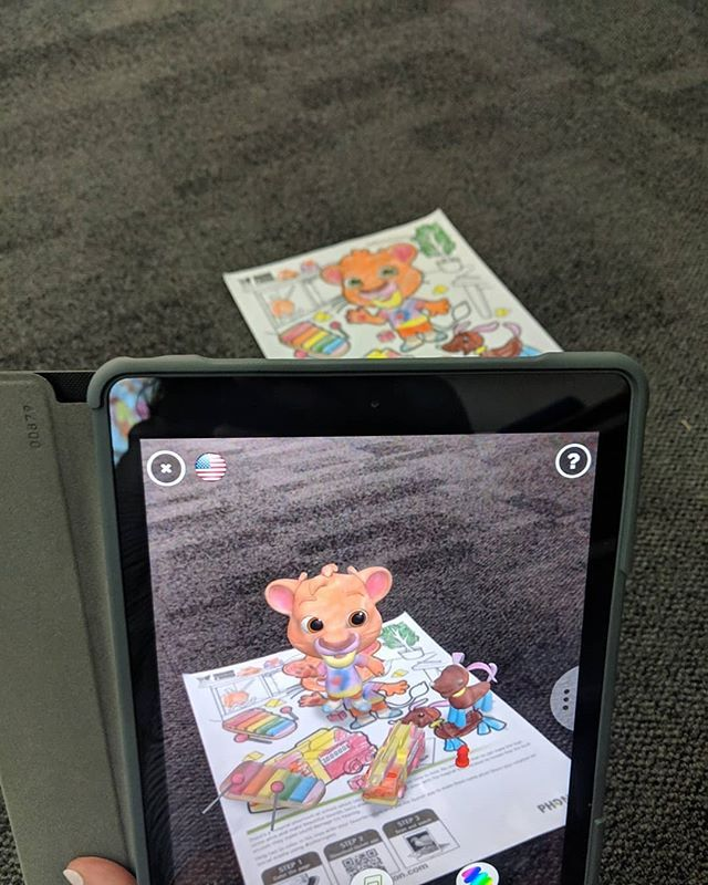 Students Exploring Augmented Reality Using The Free Quiver App And Colouring Sheets Quivervision Coloring Sheets Augmented Reality Quiver