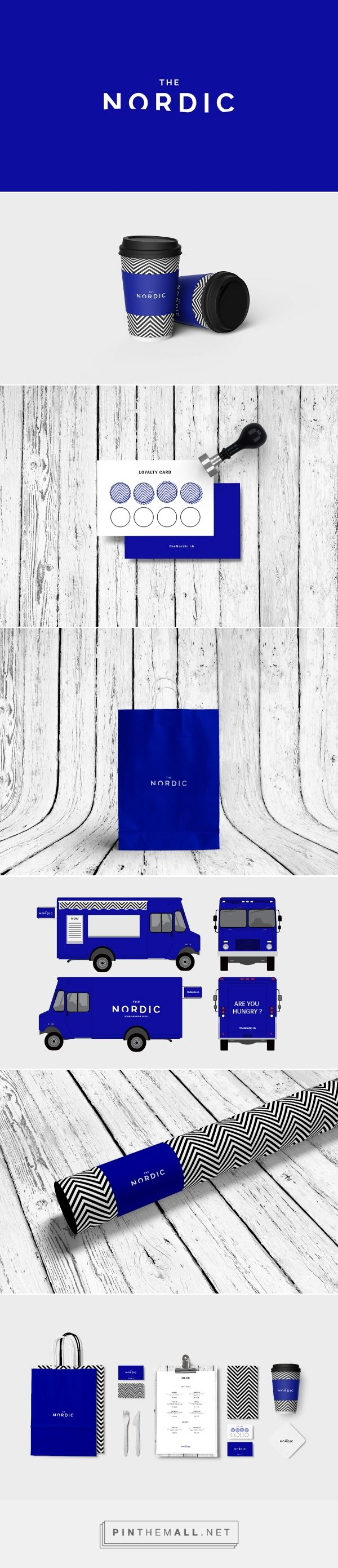 The Nordic packaging branding on Behance by David Massara Lausanne, Switzerland curated by Packaging Diva PD. Design represents  minimalist, timeless and constat of the nordic culture. Logotype was custom designed in bold, timeless sans-serif typeface with negative space of the water/boreal aurore. Moved away from feminine tones with bright blue retaining the charm of the far north.