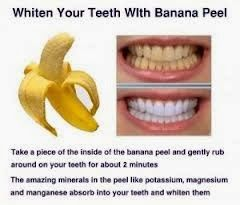 Teeth Whitening Using Banana Peels..  This shows Something that you throw away could really prove to be a saviour...!!