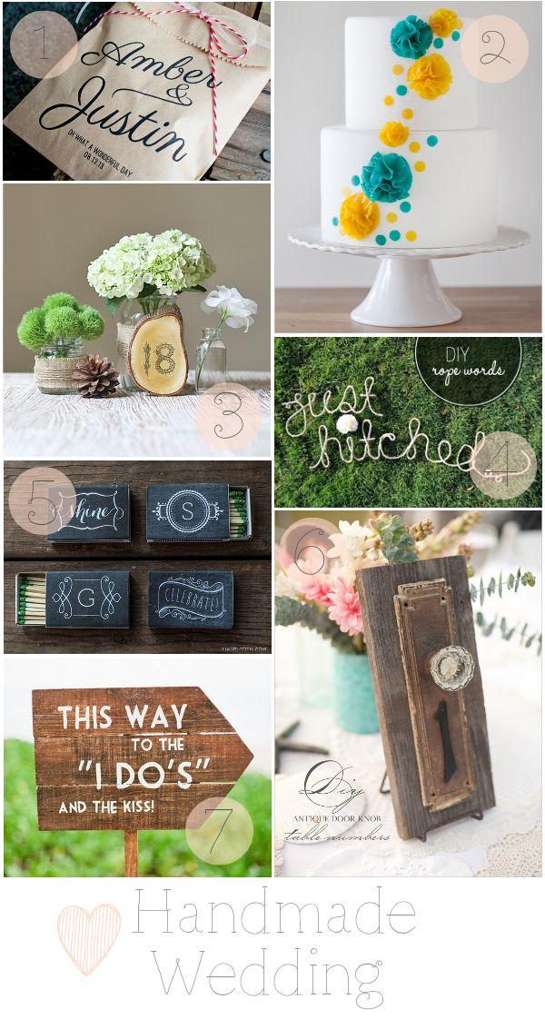 7 Handmade Wedding Ideas