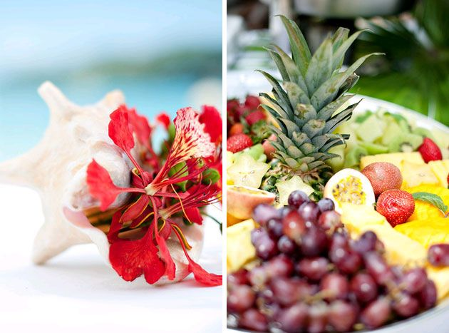 Tropical Fruit Platter For A Beach Wedding: Best 25+ Shell Centerpieces Ideas On Pinterest