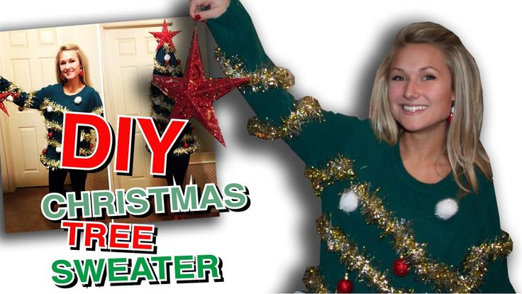 FINALLY a DIY video from the Ugly Christmas tree sweater!! PIN NOW WATCH LATER