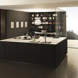 Cuisine en lames de bois noir FLOAT COMPOSITION 1 - Porto Venere