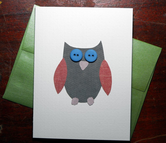 $3.50 Owl greeting card.