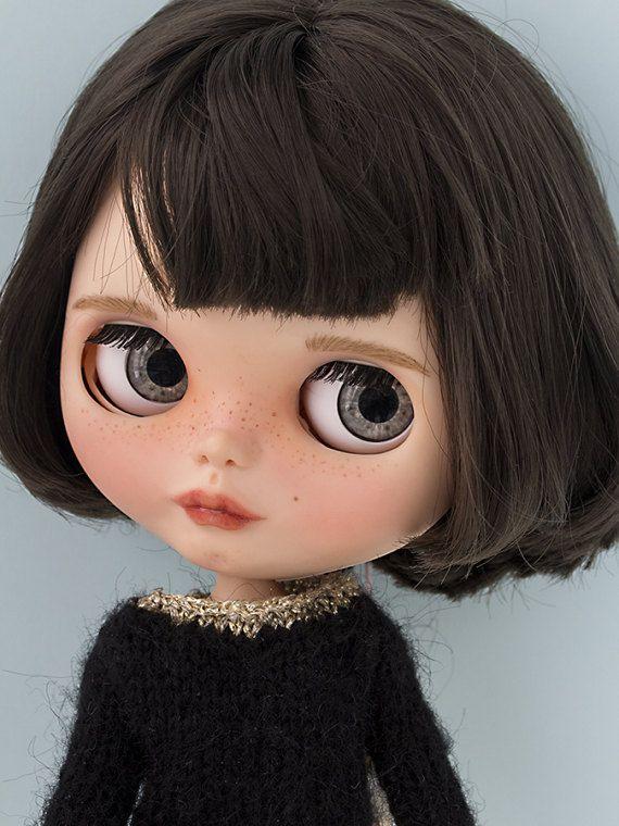 Blythe und Middie Auge Chips Harz Puppenaugen realistisch in grauen OOAK Puppe benutzerdefiniert anpassen - n º 4